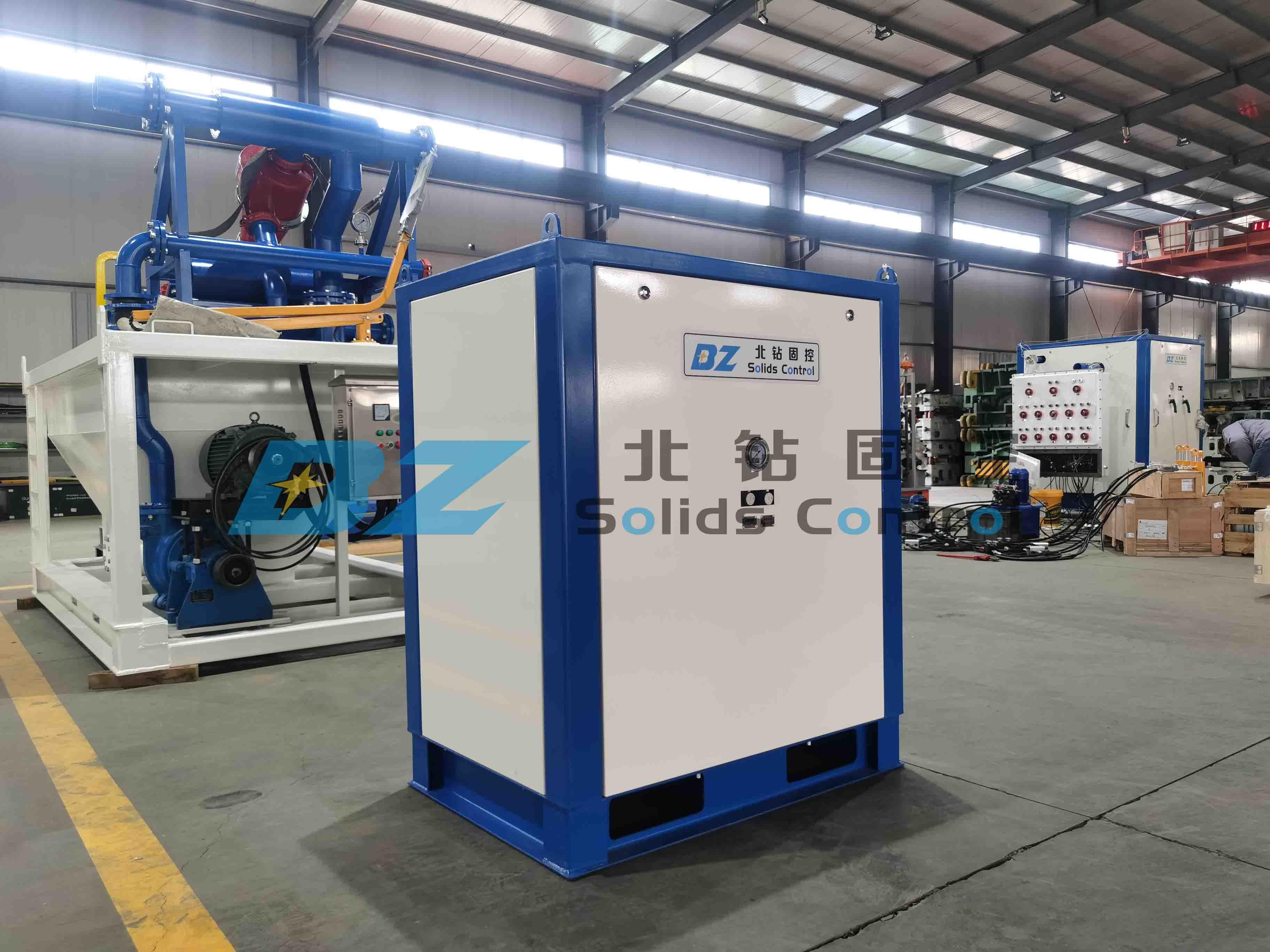 Вакуумный насос для транспортировки твердых частиц BZ Solid Control будет ввод в эксплуатацию на строительную площадку внутреннего проекта